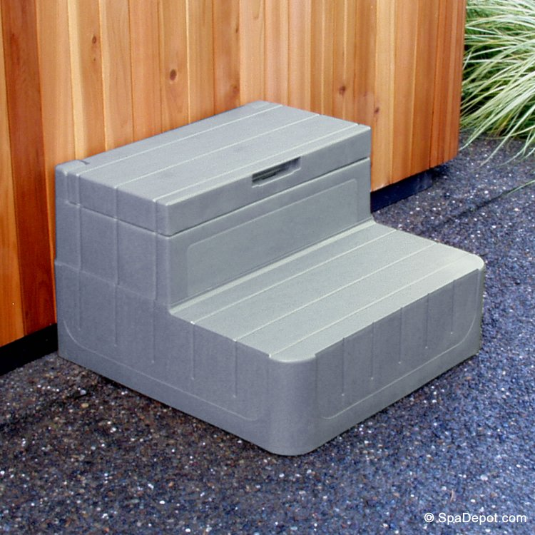Spa Stairs Storage : Centurion Hot Tub Spa Storage Steps  SpaDepot.com