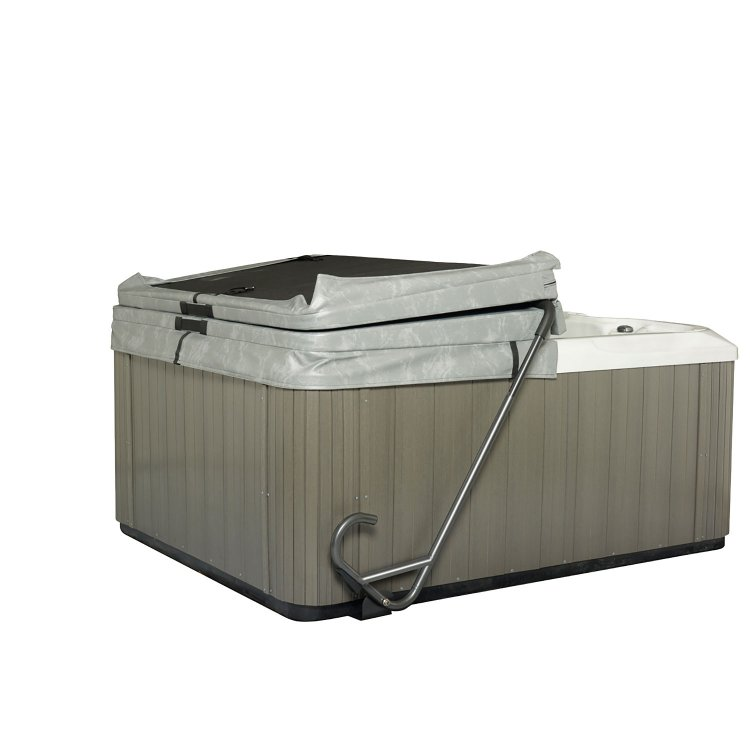 hot tub cover lift lazy lifter undermount spa cover. Black Bedroom Furniture Sets. Home Design Ideas