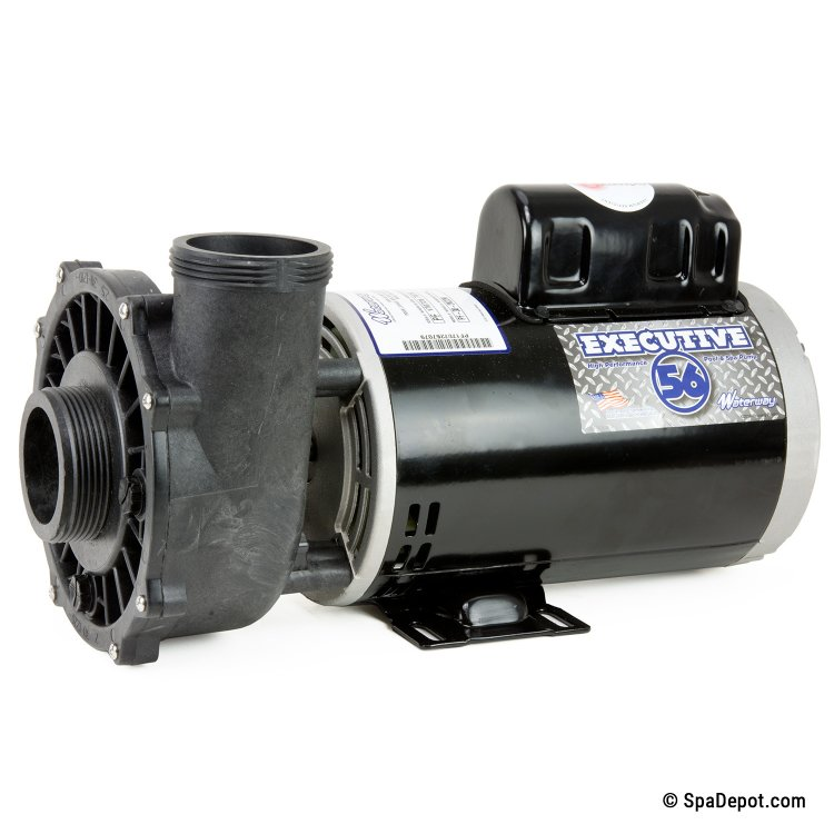 5hp waterway hot tub pump motor 2 in out 56 frame for Jacuzzi tub pump motor