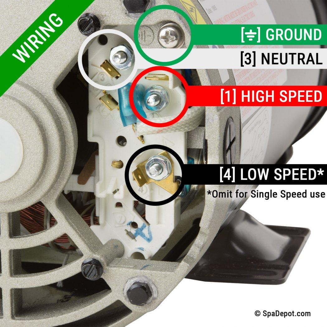 [DIAGRAM_3ER]  3 HP Hydromaster Hot Tub Pump & Motor - 220-240V | SpaDepot.com | Hot Tub 220 Wiring Diagram |  | Spa Depot