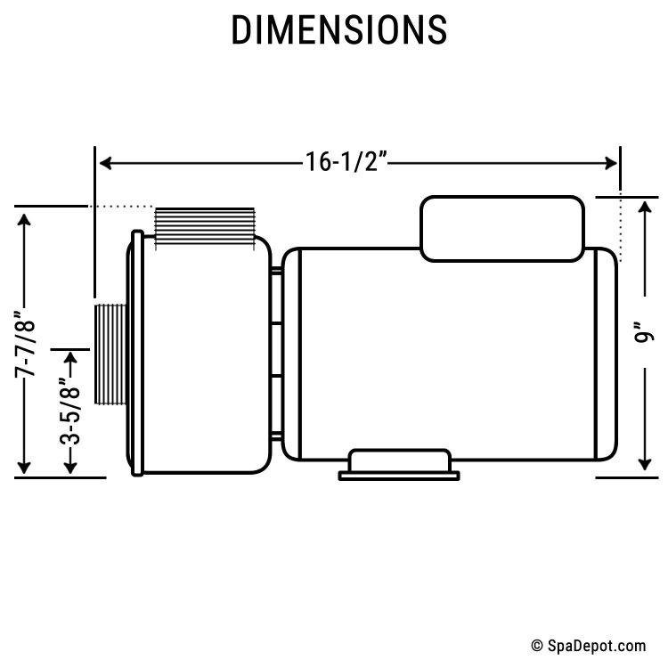 4 HP Hydromaster Hot Tub Pump & Motor - 220-240V | SpaDepot.com