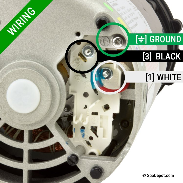 HydroMaster Pump for Jacuzzi® Sundance® Spas 6500-352 - 1Spd 56Fr on