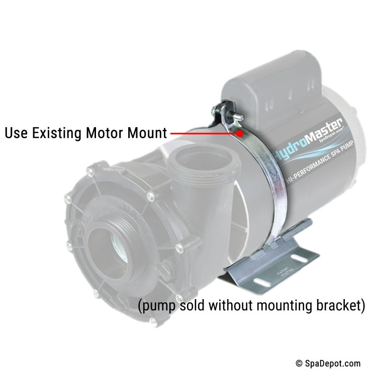 Hydromaster Replacement Pump For Sundance Jacuzzi 174 Lx 6500