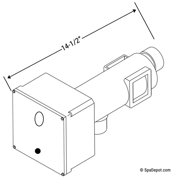 brett aqualine/len gordon heater assembly kit 5 5kw