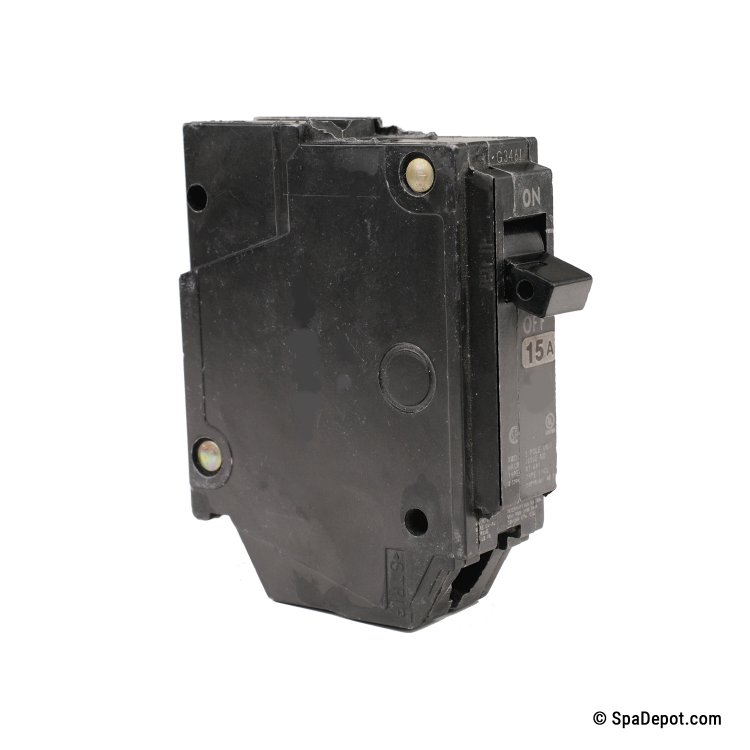 an schematic to schematic wiring a gfci 15a spa circuit breaker, single pole, 1