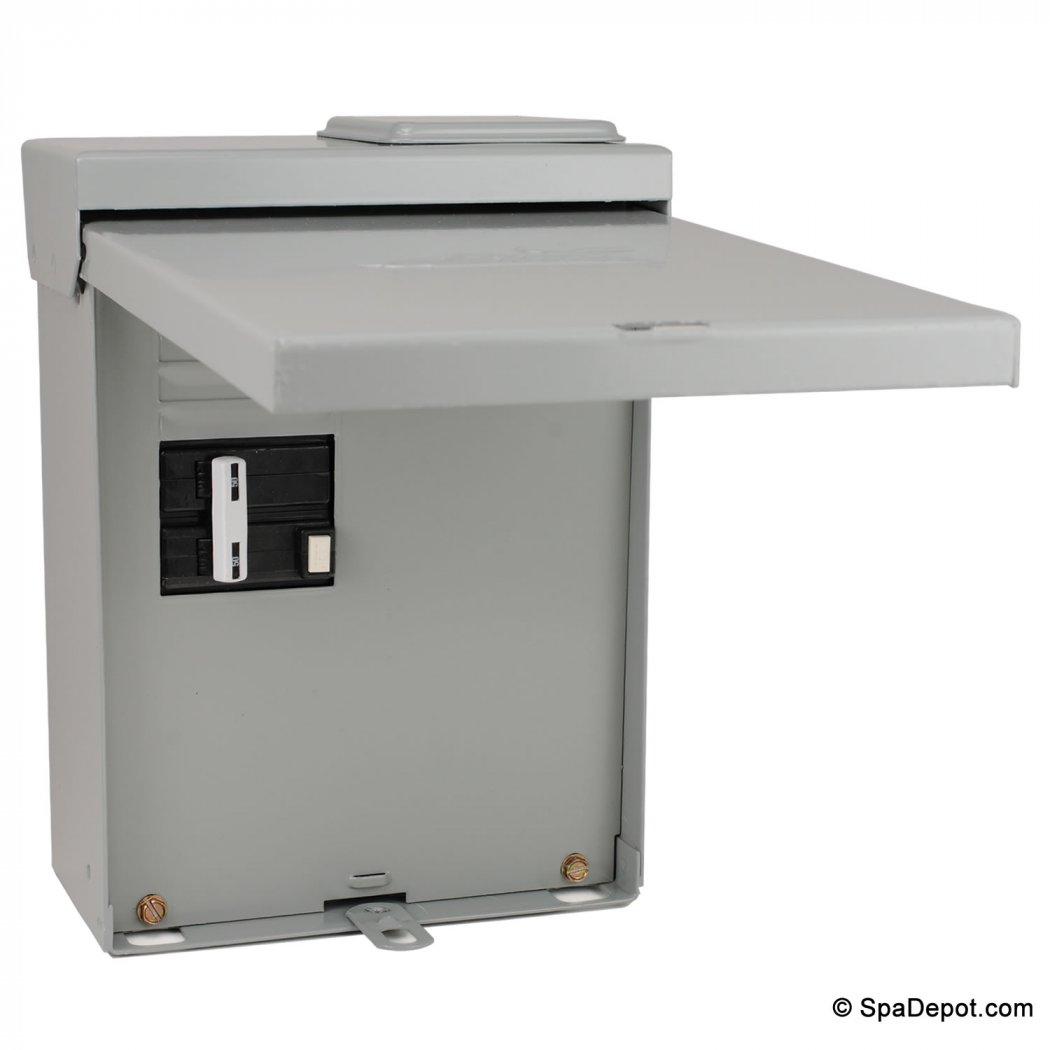 hot tub fuse box hot tub spa gfci load center disconnect spadepot com  hot tub spa gfci load center