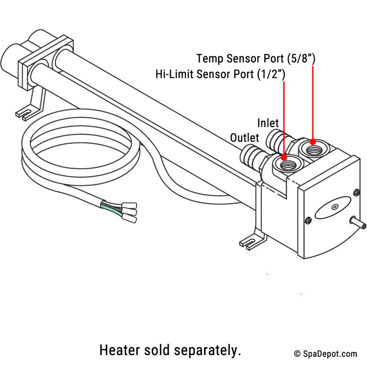 High Limit Temp Sensor Kit For Watkins Hot Spring No Fault Heater