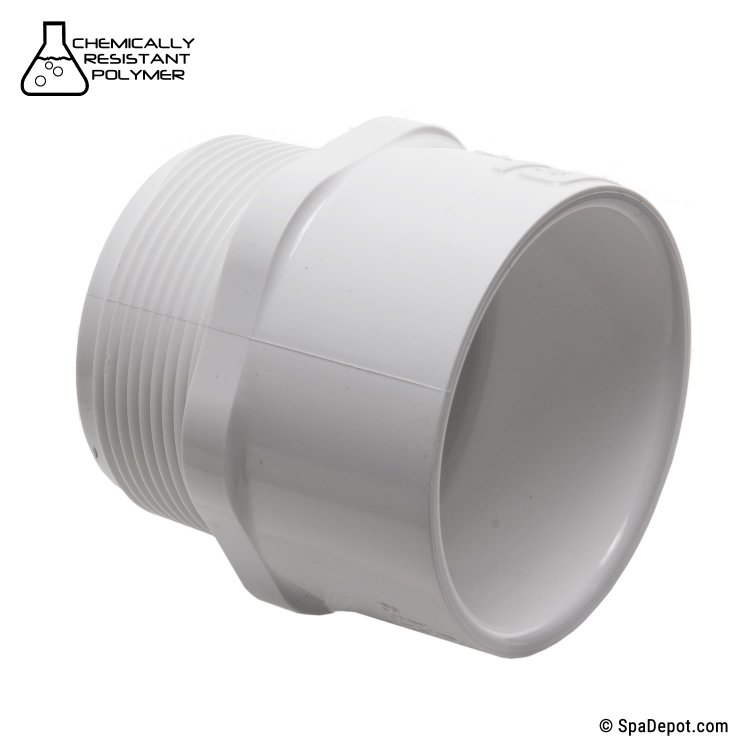 Pvc male adapter quot mpt ss spadepot