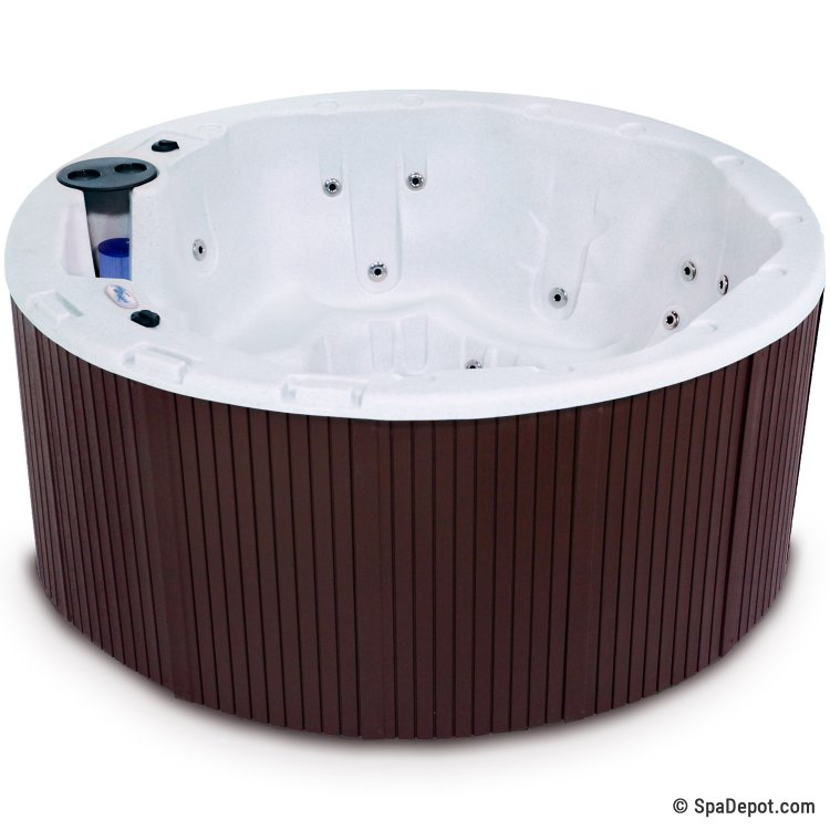 LifeCast Riviera Round 7 Person 28 Jet Hot Tub Spa | SpaDepot.com