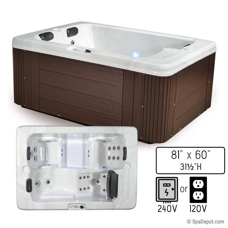 Belize Classic Trio Lounger 3 Person Hot Tub Spa | SpaDepot.com