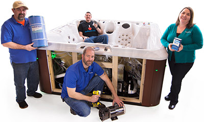 Helpful hot tub technicians ready to troubleshoot and answer your questions