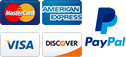 Visa, Mastercard, American Express, Discover Cards & Paypal Accepted
